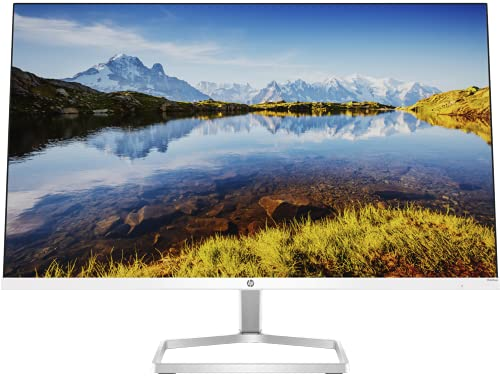 HP M24fwa 23.8-Inch(60.45cm) Eyesafe Certified Full HD IPS 3-Sided Micro-Edge Monitor, 75Hz, AMD Free Sync with 1xVGA, 1xHDMI 1.4 Ports, 300 nits, in-Built Speakers(34Y23AA), Silver