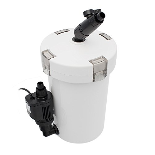 Filtre bassin poisson filtre externe aquarium pompe externe aquarium 400L / H jusqu'à 120 litres avec 3 éponges filtrantes
