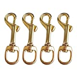 YiMusic 4 Pieces Brass Single Swivel Eye Bolt Snap Hook Buckle suit for Scuba Diving Dog Clip Equipment Replacement