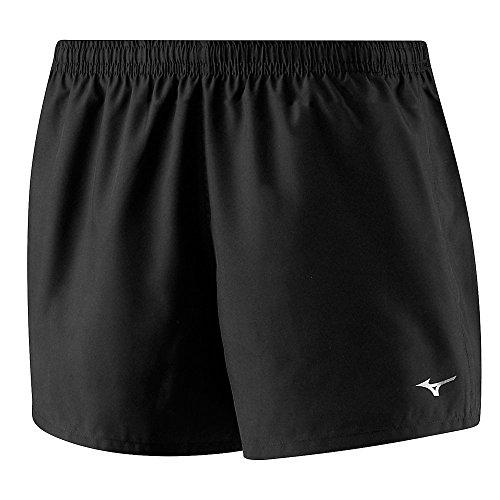 Mizuno Drylite Core Square - Pantalones cortos de running para mujer, 4.0 W, color negro