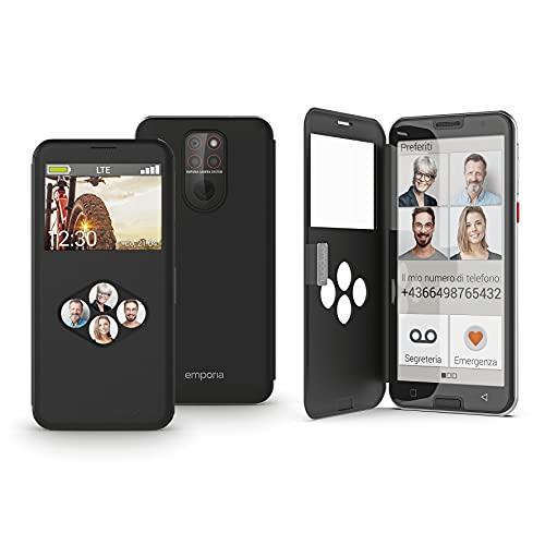Emporia SMART.5 - Smartphone 4G, Display 5.5  HD+, 32GB, 3GB RAM, Tripla Camera, Android 10, Batt. 3550mAh, Black [Italia]