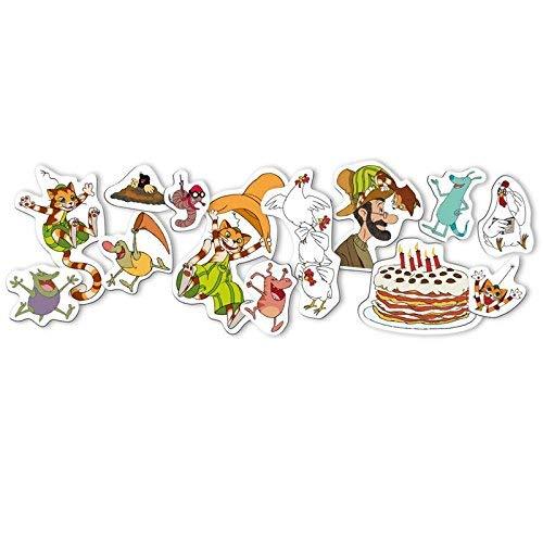 42-teiliges XXL-Konfetti * PETTERSSON & FINDUS * für Kindergeburtstag oder Mottoparty // Streuteile Großkonfetti Peterson Petersson Katze Deko Dekoration