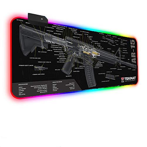 Mouse Pads Gaming Gun Parts Art RGB Mouse Pad Led Gaming Mat Personalised Keyboard Mat 31.49x11.81x0.15 inch