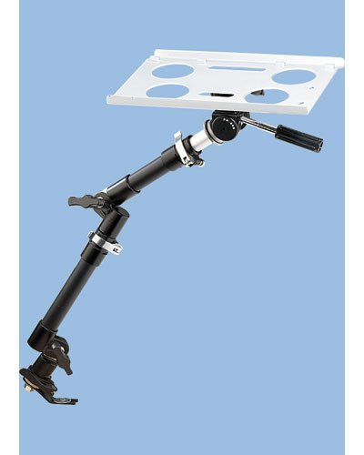 Lescars Laptop Halterung: Universal-Notebook-Kfz-Halterung mit Kamerastativ (Auto Laptophalterung)
