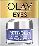 Olay Retinol 24 Crema de ojos de noche, Crema facial retinol sin fragancia para una piel suave y...
