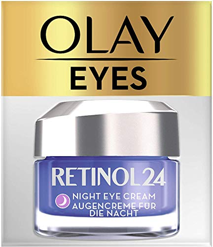 Olay Retinol 24 Crema de ojos de noche, Crema facial retinol sin fragancia para una piel suave y radiante, 15 ml