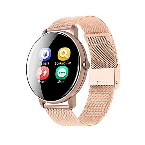 YDZ P8Y Masculino Y Femenino 1.3 Pulgadas Pantalla Táctil Bluetooth Impermeable Watch Smart Watch TFT-LCD Toque Tacto Ritmo Cardíaco Presión Arterial Monitor De Fitness Pulsera para iOS Android,D