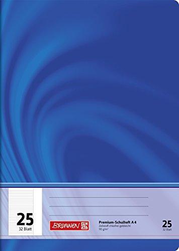 Brunnen 104442502 Schulheft A4 Vivendi (32 Blatt, liniert, mit Rand, Lineatur 25)