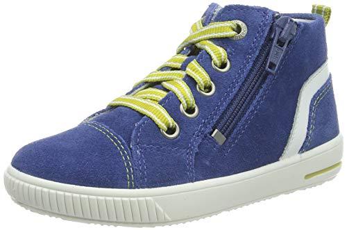 Superfit Baby Jungen Moppy Sneaker, Blau (Blau/Weiss 80), 24 EU