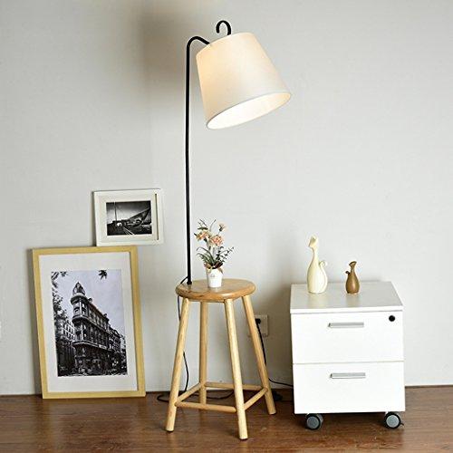 FORWIN Stehleuchte- Einfache Moderne Wohnzimmer Stehlampe Holz Kleiner Tisch Lernen Leselampe Nordic Vertikale Boden Tischlampe E27 Innenbeleuchtung (Farbe : Weiß)
