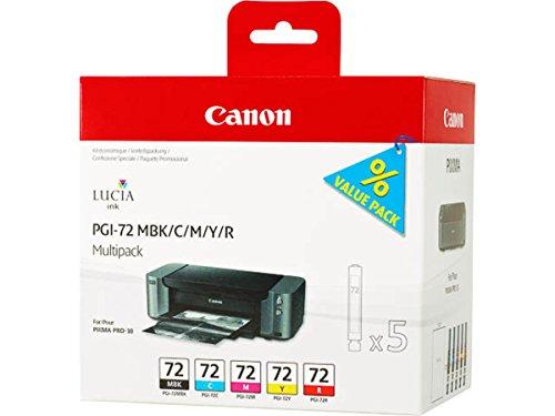 Canon original - Canon Pixma Pro 10 S (PGI-72 / 6402 B 009) - Tintenpatrone MultiPack mattblack cyan magenta yellow red