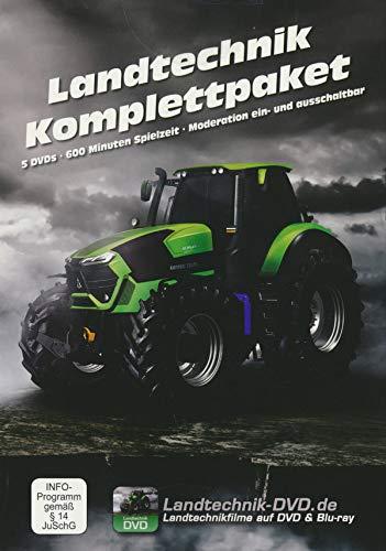 Landtechnik Komplettpaket: Agrar-Giganten - Schlagkräftige Landtechnik / Ackerbau & Grasernte / Traktoren & Mähdrescher XXL / Maisfieber-Moderne / Erntetechnik im Einsatz Maisernte [5 DVDs] [Blu-ray]
