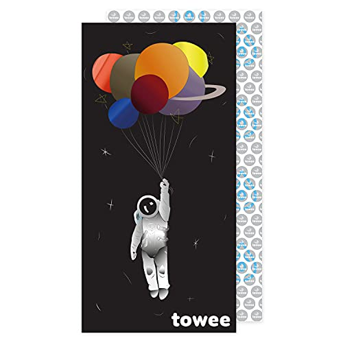 Towee Eco-Friendly Microfiber Beach Towel – Sand Free Beach Towel – Foldable Travel Beach Towel Sand Proof – Quick Dry Beach Towels for Adults – Oversized Beach Towel 63' × 31.5' – Lightweight