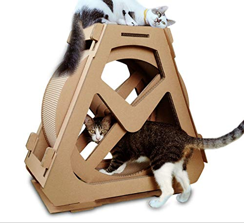 CHELIZI Ferris Wheel Cat Grab Board Wellpappe Katze Katze Nest kreativ mit Katzengreifer Board