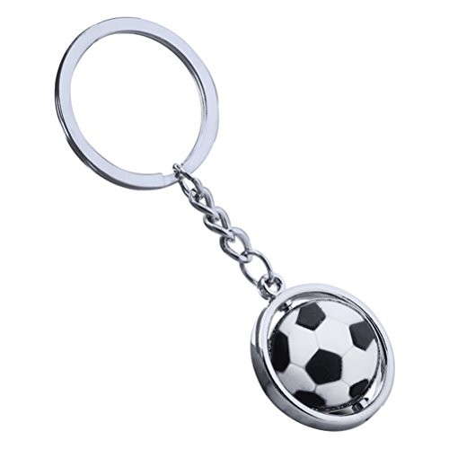 TOYMYTOY Balón de fútbol Llavero 3D Llavero de Deportes Llavero de Bola giratoria Regalo de cumpleaños