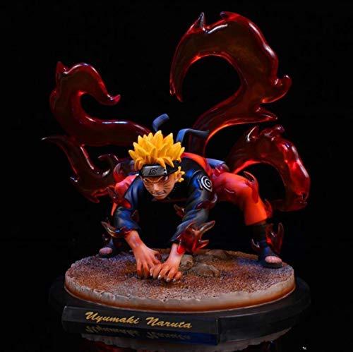 Ltong animado de Naruto Nueve de cola 20cm Zorro Demonio de la figura de acción coleccionable Modelo de cumpleaños regalo for los niños niños de juguete muñeca Frigurine jianyou
