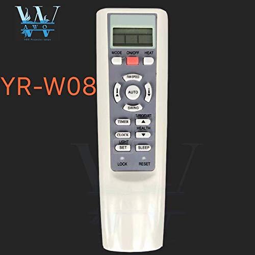 Calvas YR-W08 YI-W08 YR-W03 YR-W02 YR-W01 YR-W04 YR-W06 YR-W07 - Mando a distancia universal para aire acondicionado Haier