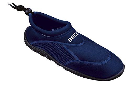 BECO Surfschuhe Badeschuhe Herren Badeschuhe Beachschuhe blau Gr 43