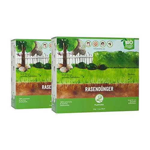 Plantura Bio-Rasendünger mit 3 Monate Langzeit-Wirkung, 6 kg, ideal im Frühjahr und Sommer, Dünger gegen Moos, staubarmes Granulat, unbedenklich für Haustiere