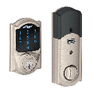 Schlage Camelot Satin Nickel Connect Smart Lock with Alarm-BE469WK V CAM 619 - The Home Depot