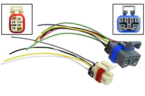 ICT Billet Transmission Pigtail Kit Neutral Safety Reverse Light Range PRNDL Sensor Switch Connector 7-wire 4-wire Compatible with GM 4-speed Automatic 1995 to 2004 4L60e 4L80e WPTRK30