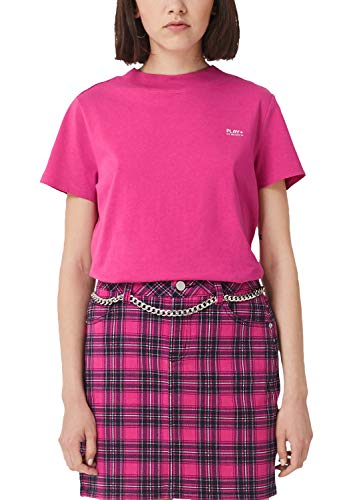 Q/S designed by - s.Oliver Damen 2004936 T-Shirt, Rosa (Jazzy Pink 4470), 40 (Herstellergröße: L)