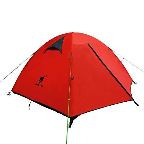 GEERTOP Tienda iglú de Campaña Impermeable Ligera 3 Personas 3 Estaciones -...