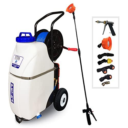 PetraTools Battery Powered 12 Gallon Cart Sprayer...