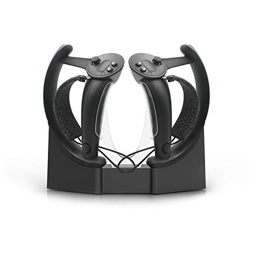 AMVR Touch Controllers Storage and Charging Station, VR Headset Wall Mount Stand for Valve Index, Two Functions Both Hold Valve Index Headset and Type-C Charge Handle Controller