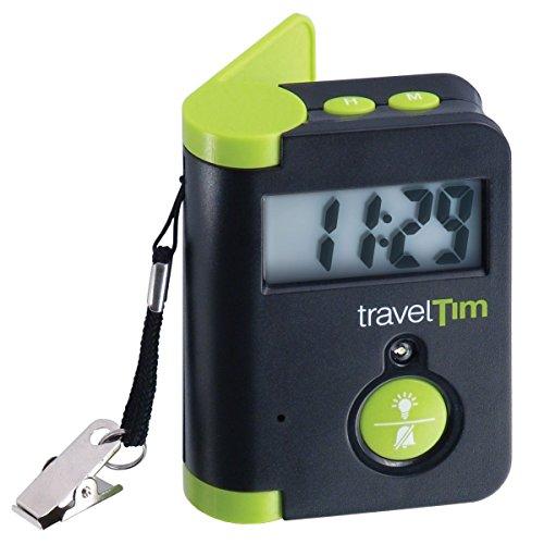 TravelTim, Reisewecker Schwarz/Grün