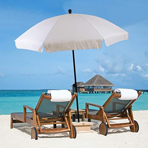 Marko Outdoor 1.9M Beach Umbrella Garden Outdoor Patio Parasol Sunshade Protection (Cream)