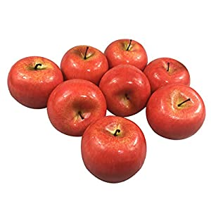 COTOSEY 12pcs Fake Fruit House Kitchen Party Decoration Video Props Children Toys Artificial Lifelike Simulation Red Apples (12pcs Red Apples)