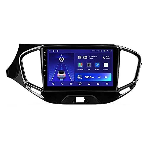Reproductor Multimedia estéreo para automóvil con Pantalla táctil HD de 9 Pulgadas Radio automática para Lada Granta Cross 2018-2019 Unidad Principal de navegación con GPS WiFi 4G Bluetooth FM SWC Re
