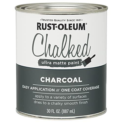 Rust-Oleum 285144 Ultra Matte Interior Chalked Paint 30 oz, Charcoal, 30 Fl Oz