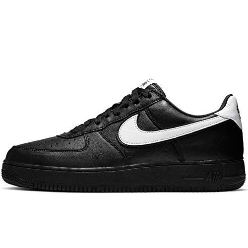 Nike Air Force 1 Basso Retro QS, Nero (nero/bianco-nero.), 40 EU
