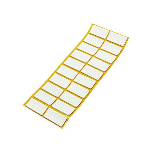 Adsamm® | 20 x Antirutsch Pads aus EPDM/Zellkautschuk / 20x40 mm/Weiß/rechteckig / 2.5 mm starke rutschhemmende Pads