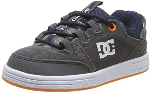 DC Shoes Jungen Syntax-Low-top Shoes for Boys Skateboardschuhe, Grey/Dark Navy, 31 EU
