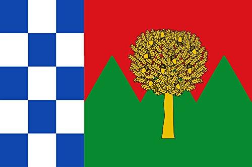 magFlags Bandera Large Dimensiones 2 3, tercia al asta y encajada en Horizontal al batiente | Bandera Paisaje | 1.35m² | 90x150cm