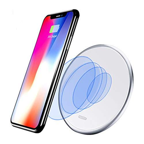 GPWDSN Kabelloses Ladegerät, Qi-zertifiziertes kabelloses Ladepad, kompatibel mit iPhone XS Max/XR/XS/8 Plus, 10 W Schnellladepad für Samsung S9/S9/S8/Note 9 und alle Qi-fähigen Geräte.