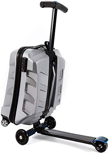 21 inch TSA Lock Scooter Luggage Aluminum Suitcase With Wheels Skateboard Rolling Luggage Travel Trolley Case