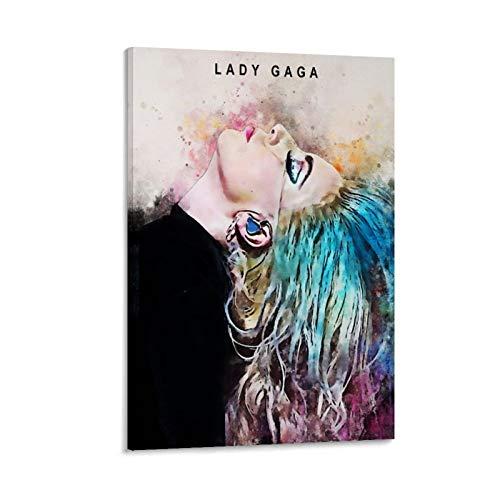 RTYHJ Poster sur toile Lady Gaga - Décoration murale moderne pour chambre de famille - 20 x 30 cm