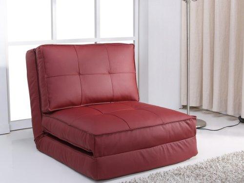 Sillón cama, rojo oscuro, grande