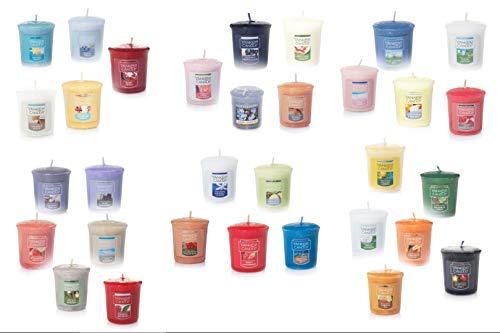 Photo de lot-de-5-bougies-parfumees-et-colorees-yankee-candle