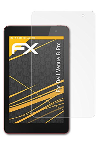 atFolix Panzerfolie kompatibel mit Dell Venue 8 Pro Schutzfolie, entspiegelnde & stoßdämpfende FX Folie (2X)