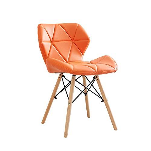 Silla de comedor para adultos, silla de ordenador informal, moderna simple taburete de la espalda, cojín cómodo y transpirable, soporte de fijación de metal. moderno Size 5