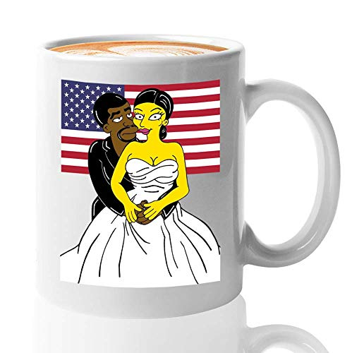 Kanye West Coffee Mug - Kanye West The President And The First Lady Kim Kardashian - Kanye West President Usa 2020 Kim Yeezy Yeezus Fan (11oz,White)