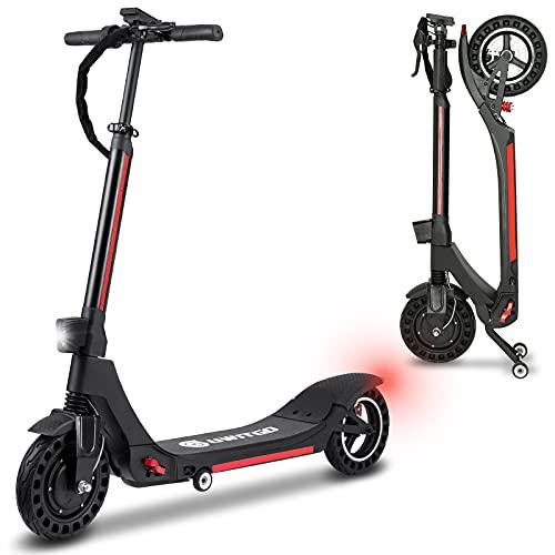 UWITGO Patinete Eléctrico Adulto de 350W hasta 25Km/h Scooter Electrico Plegable Neumáticos de 10 Pulgadas, Carga 150Kg, 3 Modos de Velocidad, Alcance de 30Km