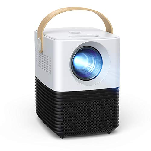 Mini Projector, APEMAN HD Portable Movie Projector, Supported 1080P, 120 Inch Screen Video Projector, ±30°Keystone Correction, 50000 Hrs Lamp Life, with HDMI for Home/Outdoor Theater
