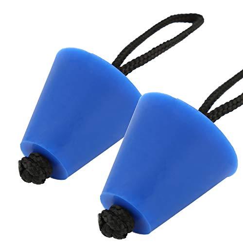 LUTER 2St Silikon Kajak Scupper Plug Kit Universal Kanu Abflusslochstopfen Spund Ersatzteil für Kajakkanu - Blau