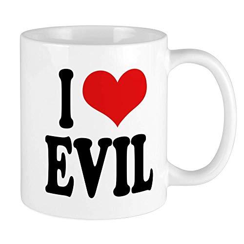 N\A Amo la Taza Malvada Taza de café única, Taza de café